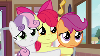 Cutie Mark Crusaders cutely pouting S9E12