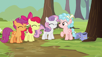 Cutie Mark Crusaders nod to Cozy Glow S8E12