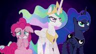 MAFH 05 Celestia i Luna zdeterminowane, a Pinkie - przerażona