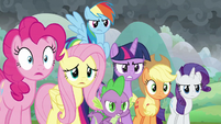 Mane Six and Spike face down the villains S9E25