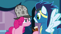 Pinkie Pie staring at Soarin S7E23