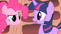 Pinkie Pie tells Twilight she needs to get out more S1E16