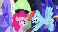 Rainbow Dash takes journal from Pinkie Pie S7E14