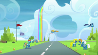Rainbow crosses the runway without looking S6E7