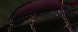 Storm King's airship breaks Canterlot spires (new version) MLPTM