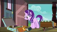 Sunburst's luggage spills out in front of Starlight S7E24