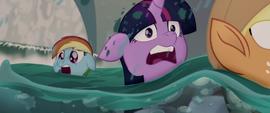 Twilight, AJ, and Rainbow in the rapids MLPTM
