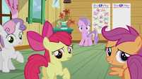 CMC and Diamond hear Pipsqueak outside S5E18