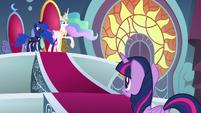 "Celestia ""protect Equestria in your absence"" S8E25"