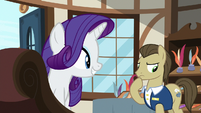 Davenport thinking about Rarity's request S7E19