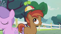 Diamond Tiara spins Button Mash's propeller beanie S5E18