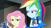 """Fluttershy chimes in """"I'm trying"""" EG2"""