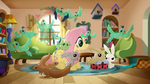 Fluttershy is going on a trip and Angel and other animals help her 2 Rainbow Roadtrip