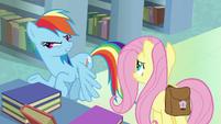 "Rainbow Dash ""Daring Do's archnemesis"" S9E21"