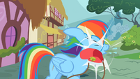 Rainbow Dash Slapped by a purse S2E8