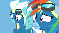 Rainbow Dash biting her lower lip in humiliation S7E7