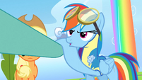 Rainbow Dash is not cool with Lightning S3E07