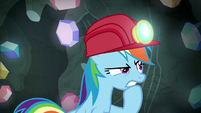 Rainbow Dash looking for a secret door S8E17