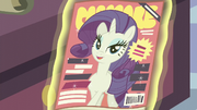 Rarity on the front cover of Cosmare S5E14.png