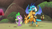 Spike excited by Ember's cooperation S6E5