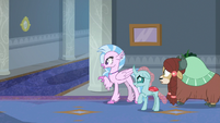 Students hear Fluttershy around the corner S8E1