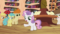"""Sweetie Belle """"we don't have Scootaloo's unicycle parts"""" S4E15"""