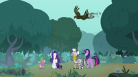 Twilight and friends see the roc fly away S8E11
