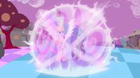 Celestia and Luna preparing to defeat Discord S4E02