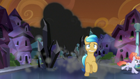 Crystal Ponies flee from black crystals S9E1