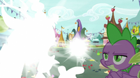 Discord and Sugar Belle vanish before Spike S9E23