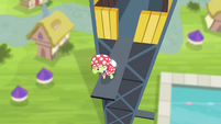 Granny Smith approaching edge of diving board S4E20