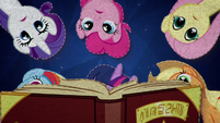 Mane Six look through History of the Crystal Empire BFHHS5