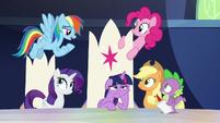 """Rainbow Dash """"you get big news"""" S9E1"""