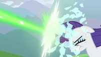 Rarity's magic shield shatters S9E25