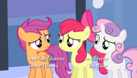 """Scootaloo tells Apple Bloom """"give it a rest"""" S4E24"""