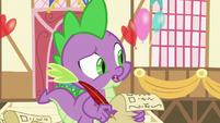 Spike -pretty sure dragons don't like flowers- S7E15