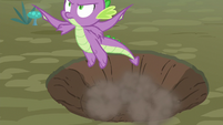 Spike takes flight for the first time S8E11