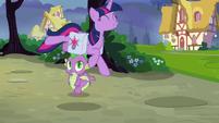Twilight Sparkle leaps with excitement S9E16