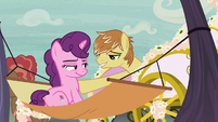 Feather Bangs inviting Sugar Belle on a carriage ride S7E8