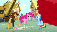Pinkie Pie gives victory to Cheese Sandwich S4E12