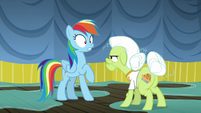 Rainbow Dash shocked by Granny's insult S8E5