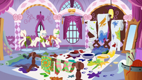 Rarity's workspace is a complete mess S6E11