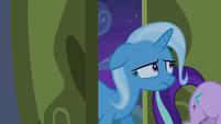 Trixie following Starlight Glimmer into the castle S6E25