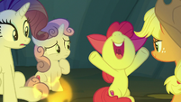 Apple Bloom squealing with excitement S7E16