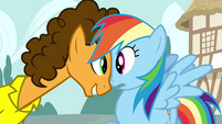 Cheese looking at Rainbow S4E12