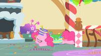 Pinkie Pie collapses on bedroom floor S1E25