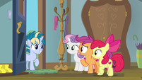 Scootaloo asks about Skeedaddle's cutie mark S9E12