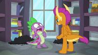 Spike shocked by Smolder's words S8E11