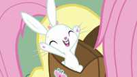 Angel Bunny happy and excited S9E18