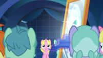 Celestia pulls Luna into the dream mirror S7E10